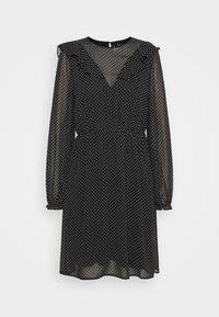 VMLARI FRILL SHORT DRESS - Day dress - black/snow white