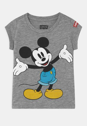 MICKEY MOUSE HAPPY  - T-shirt z nadrukiem - grey heather
