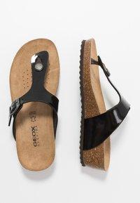 Geox - STHELLAE - Sandály s odděleným palcem - black - 1