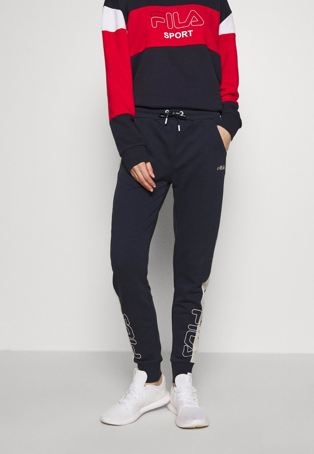 LAILA - Pantaloni sportivi - black iris/light grey melange