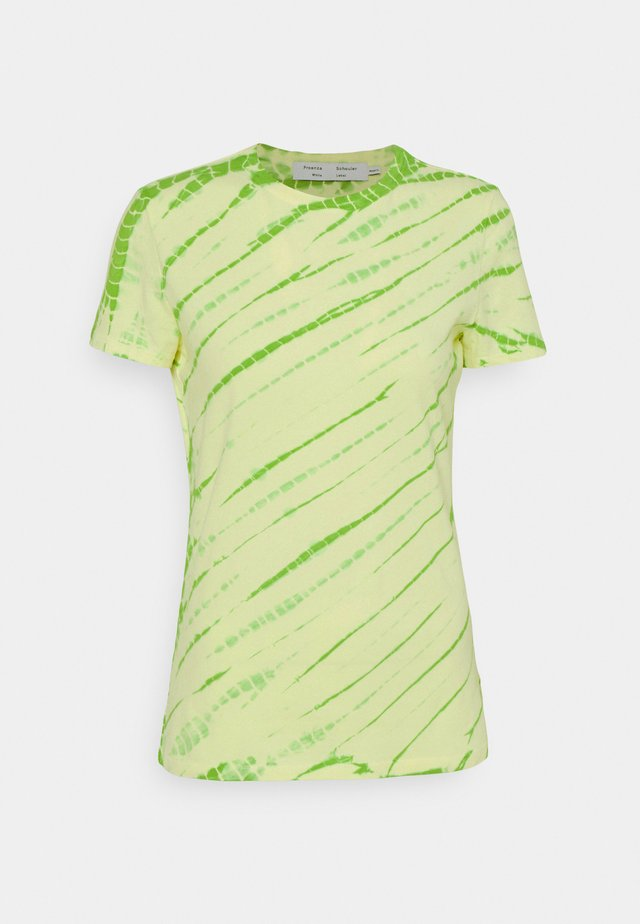 TIE DYE STRETCH - T-shirt con stampa - olive green/pale yellow