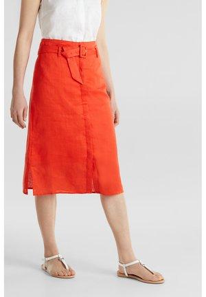 A-line skirt - red orange