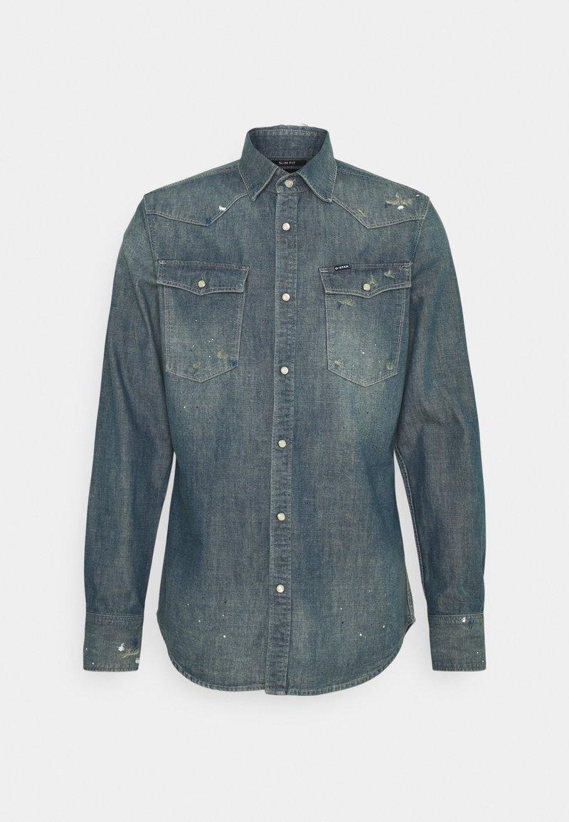 G-Star - SLIM - Shirt - heavy lock chambray antic faded aegean blue
