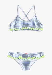Sunuva - GIRLS POMPOM FRILL - Bikini - blue/white - 0