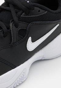 Nike Performance - COURT JR LITE 2 UNISEX - Multicourt tennis shoes - black/white - 5