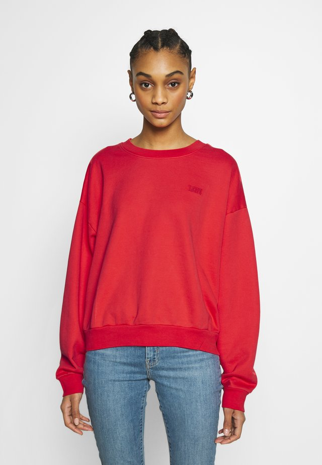 DIANA CREW - Sweatshirt - ultra soft tomato
