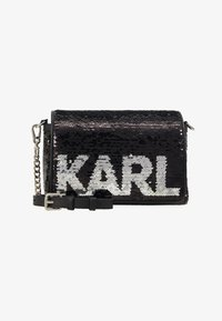 KARL LAGERFELD - SHOULDER BAG - Across body bag - black - 5
