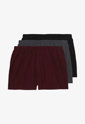 3 PACK - Bokserki - black/grey/red