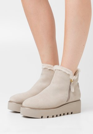 BOOTS  - Wedge Ankle Boots - beige