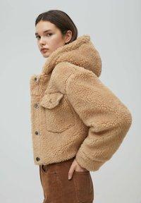 PULL&BEAR - MIT KAPUZE - Winter jacket - brown - 3