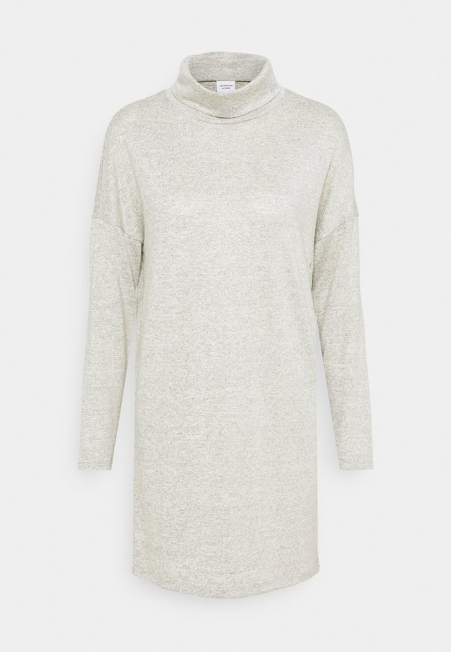 JDYSARA TONSY COWL NECK DRESS - Jumper dress - silver birch melange