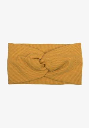 HAARBAND IN FEINRIPP MIT SCHLEIFE - Hair styling accessory - mustard yellow