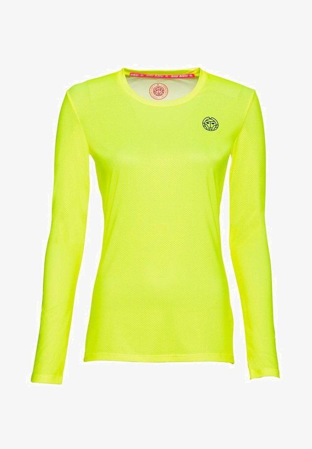 MINA - Long sleeved top - neon yellow