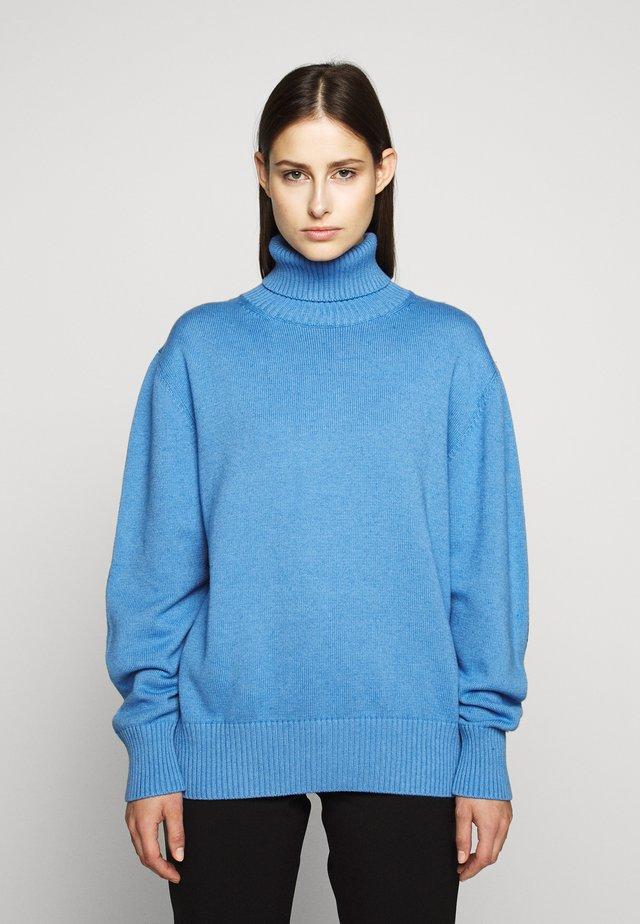 ROLL NECK - Stickad tröja - blue