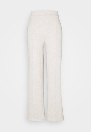 STRAIGHT COZY PANTS - Trainingsbroek - beige mélange