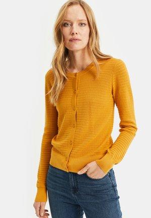 MET STRUCTUUR - Cardigan - ochre yellow