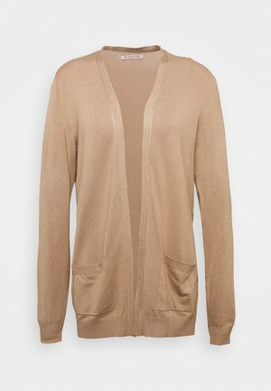 BASIC- Pocket cardigan - Kardigan - camel