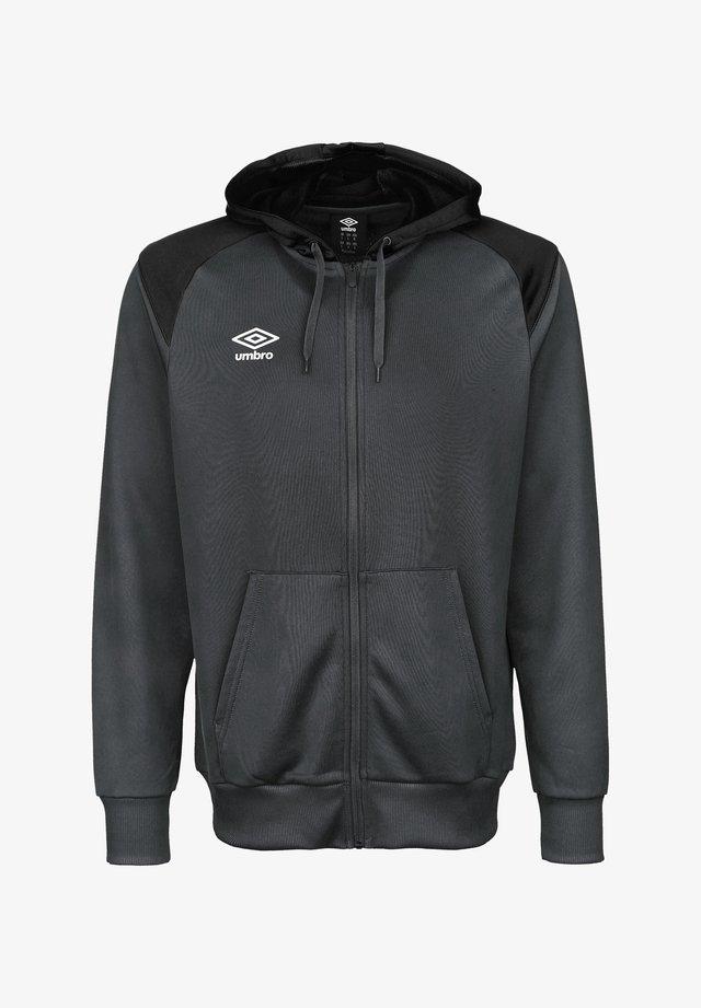 Zip-up hoodie - carbon / black