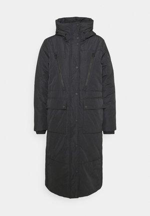 PADDED LONG COAT - Veste d'hiver - deep black