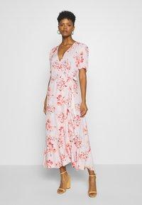 YAS - YASSINA ANKLE WRAP DRESS - Maxi dress - pale lilac - 0
