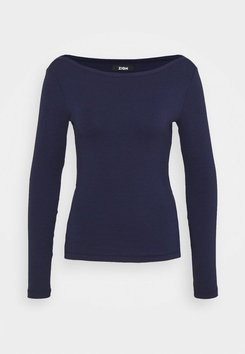 Zign - Langærmede T-shirts - dark blue
