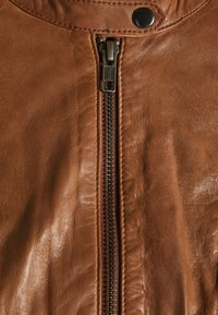 NAF NAF - CLIM - Kožená bunda - cognac - 6