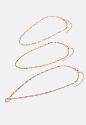 HEART 3 ROW 3 PACK - Collier - gold-coloured