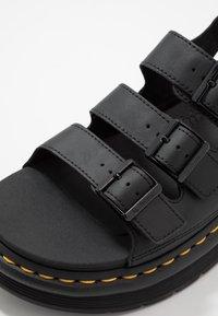 Dr. Martens - SOLOMAN 3 STRAP - Sandals - black - 5