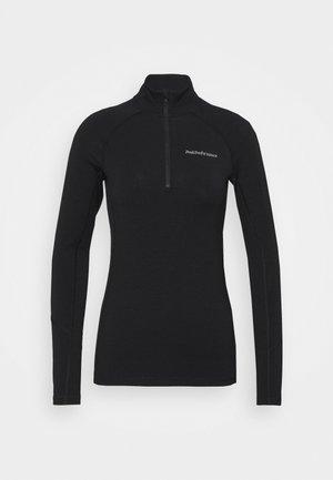 MAGIC HALF ZIP - Unterhemd/-shirt - black