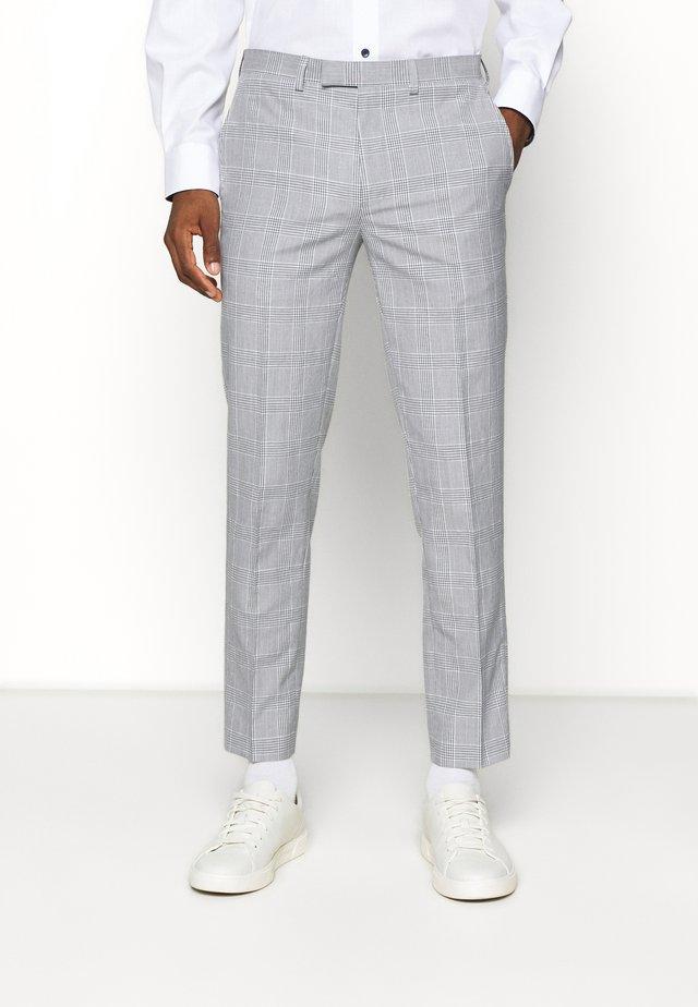 CHECK TROUSERS - Pantalon - grey