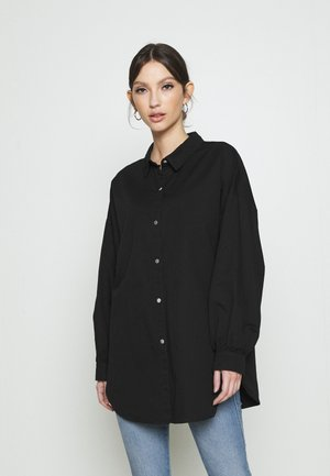 JDYMIAMI OVERSIZED - Button-down blouse - black