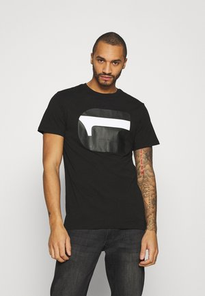 3D NO.1 LOGO+ R T S\S - T-shirt print - dark black
