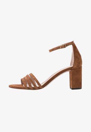 APRIL - Sandals - cognac