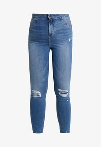 New Look Curves - DISCO POPPY - Skinny džíny - blue - 4