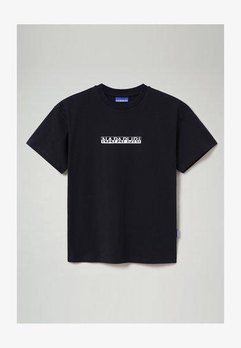 S-BOX  - Print T-shirt - blu marine