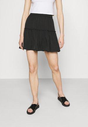 PAMELA REIF X ZALANDO RECYCLED FRILL MINI SKIRT - Mini skirt - black