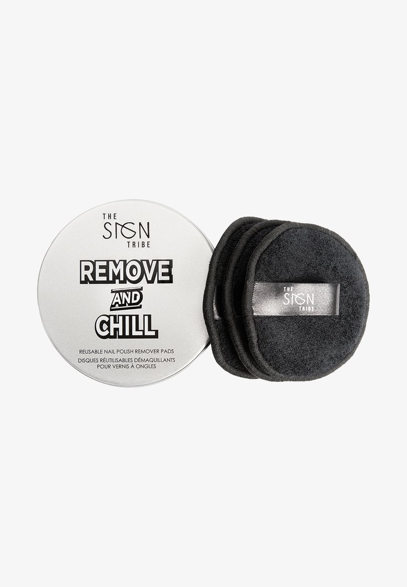 THE SIGN TRIBE - REMOVE AND CHILL REUSABLE REMOVER PADS - Makeup accessory - black