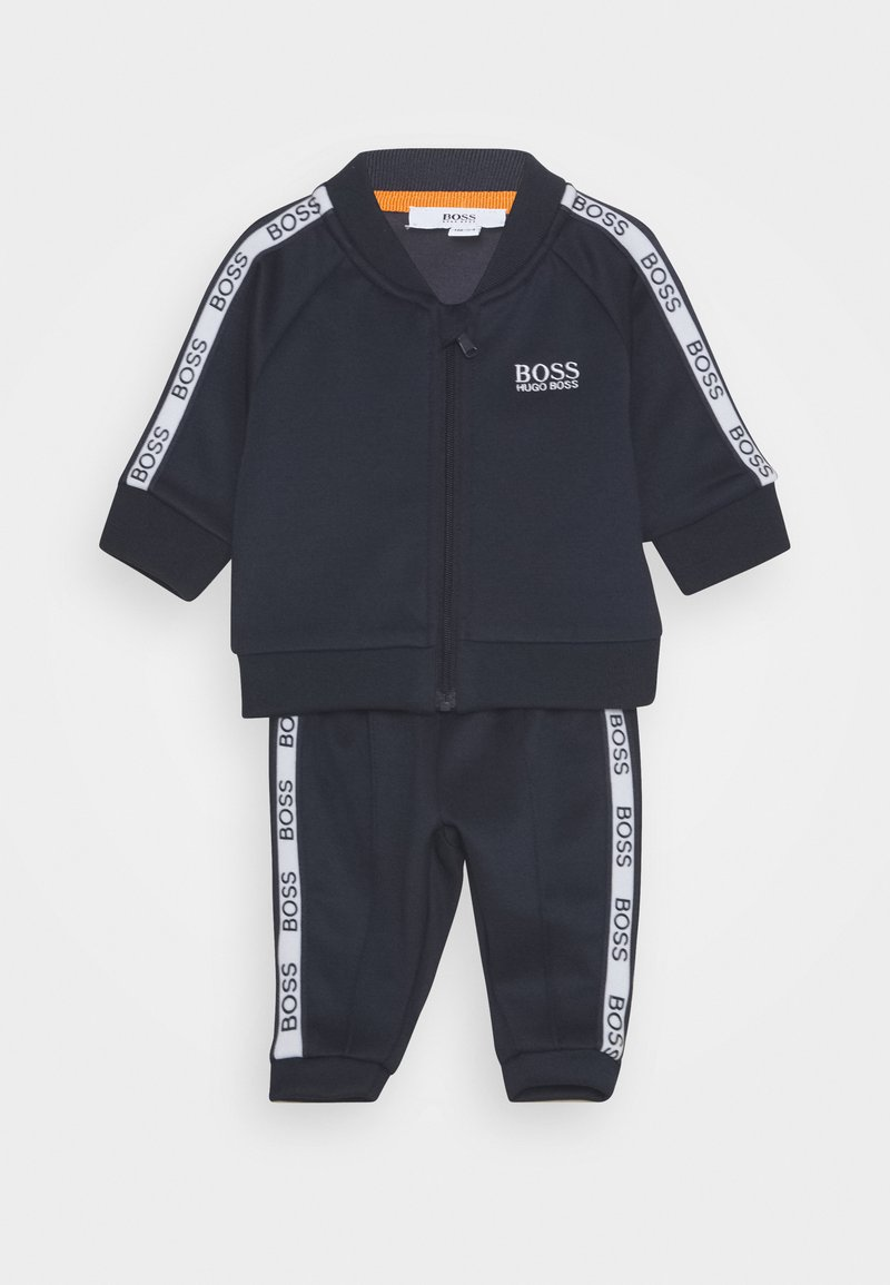 BOSS Kidswear - TRACK SUIT BABY SET - Pantalon de survêtement - navy