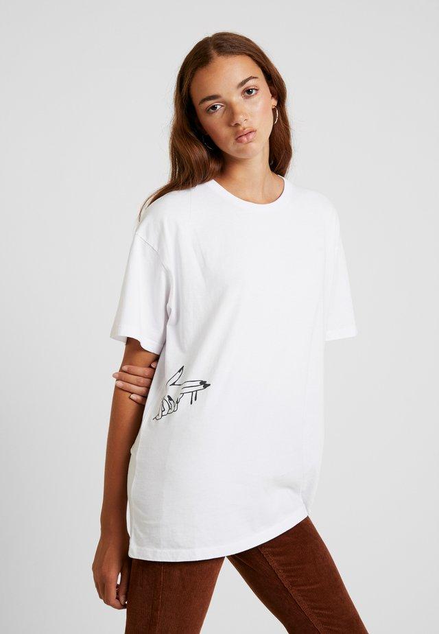 BANGBANG TEE - T-shirt print - cochon blanc