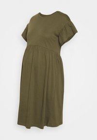 OLMMAY NEW LIFE CUTLINE DRESS - Jersey dress - olive night