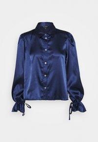 Miss Selfridge - TIE CUFF - Button-down blouse - navy - 0