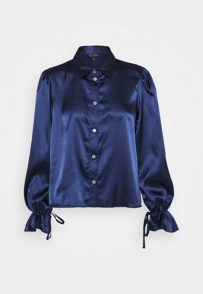 Miss Selfridge - TIE CUFF - Button-down blouse - navy