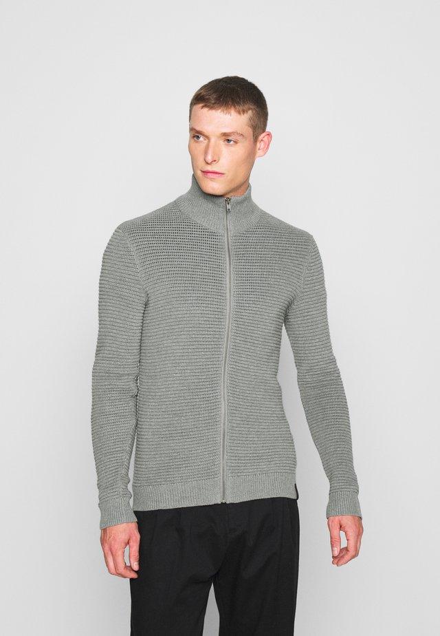 Chaqueta de punto - mottled light grey