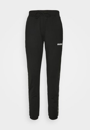 LONG PANTS - Tracksuit bottoms - jet black