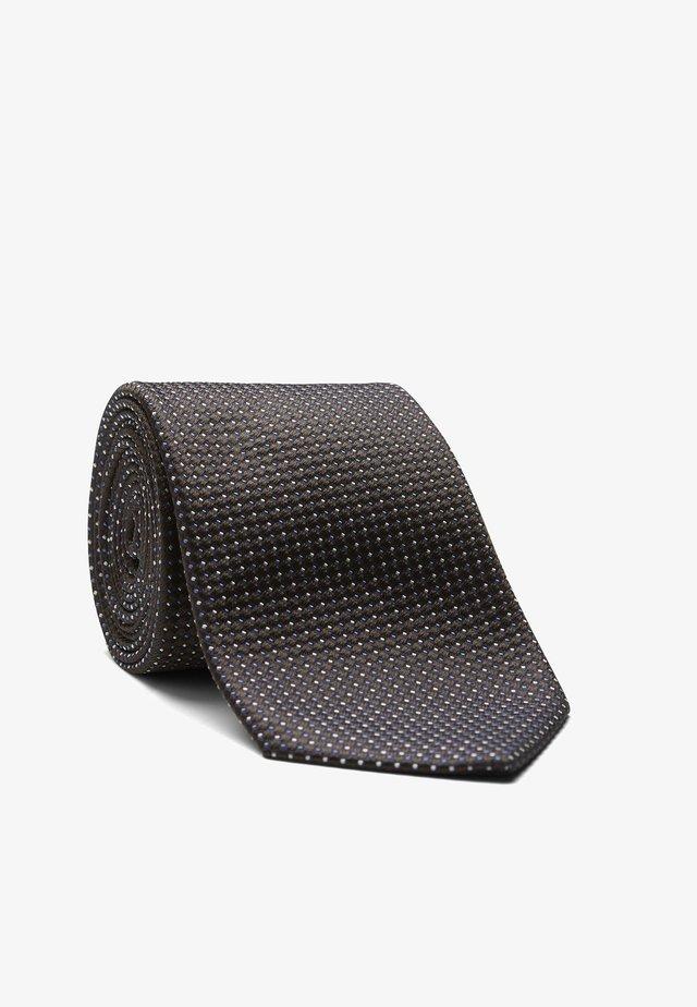 LEROY - Krawatte - beige/braun