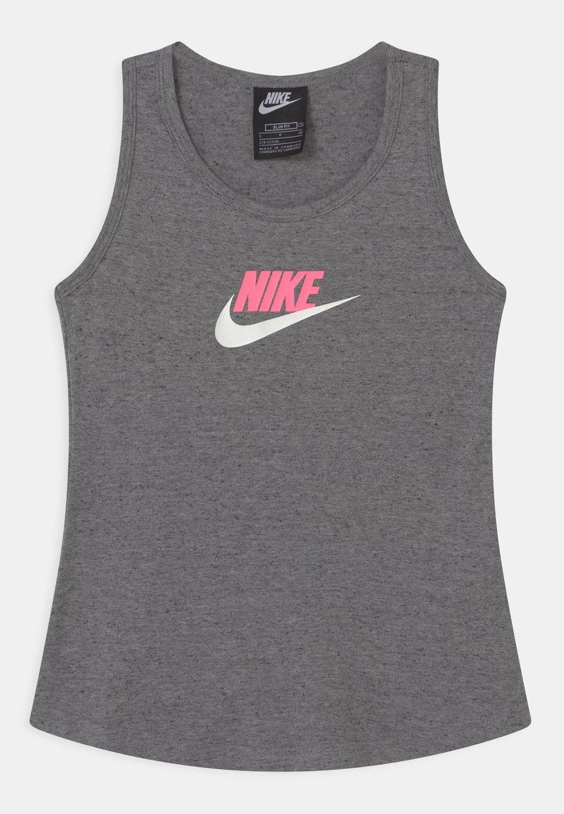Nike Sportswear - Top - carbon heather/sunset pulse
