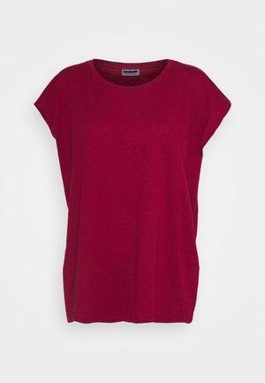 NMMATHILDE LOOSE LONG - Basic T-shirt - rhubarb