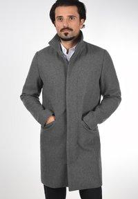 Solid - JAMPA - Classic coat - grey melange - 0