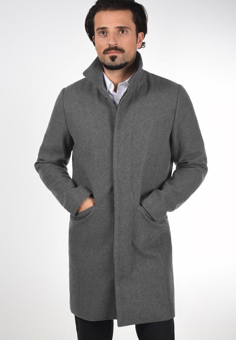 Solid - JAMPA - Classic coat - grey melange