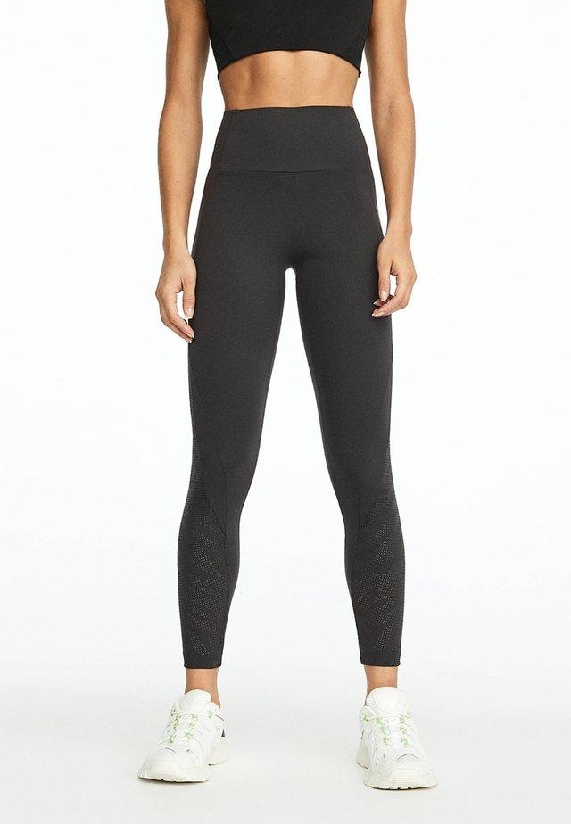 MIT LASER CUT TIGERMOTIV  - Legging - dark grey